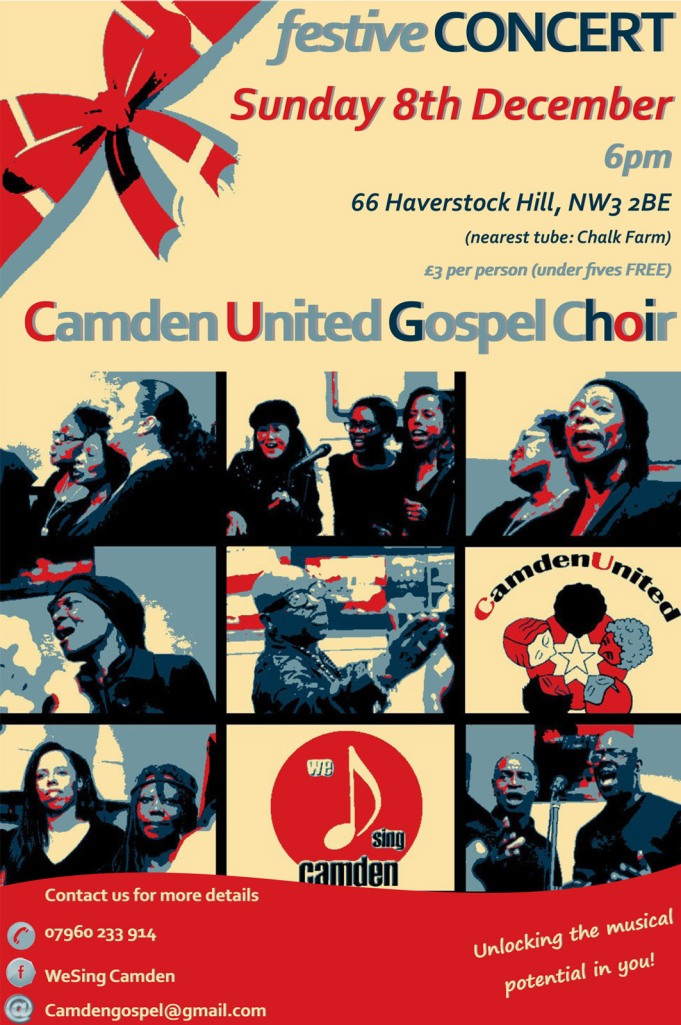 Camden Community Choir Christmas Flyer 2013