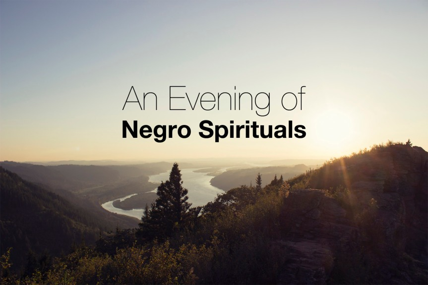 """An Evening of Negro Spirituals"""
